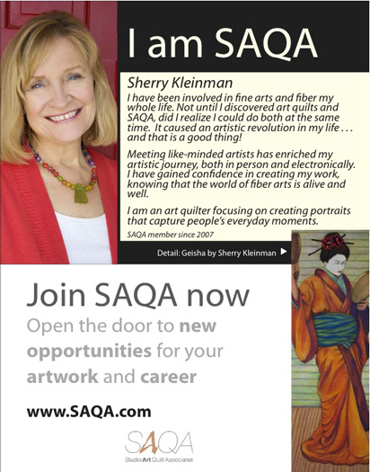 """I am SAQA"" Ad Campaigm...exciting to be part of it!!"