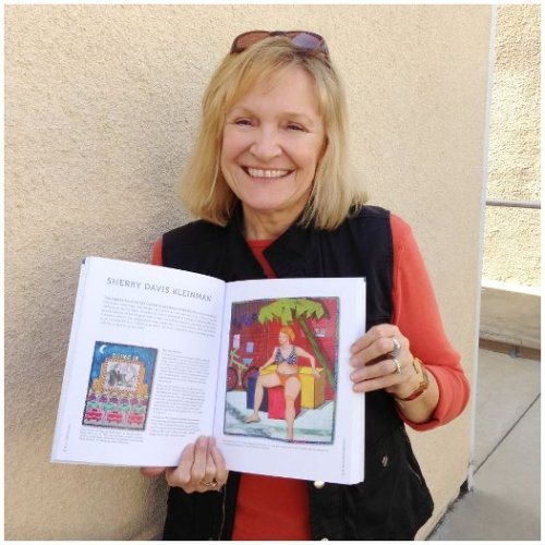Posing with my interview in People and Portraits book