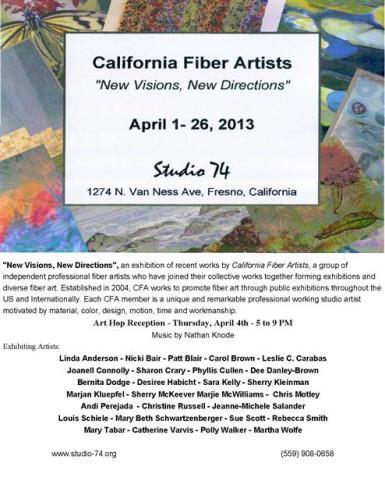 "CFA Postcard for ""New Visions, New Directions"", Studio 74, Fresno, CA"