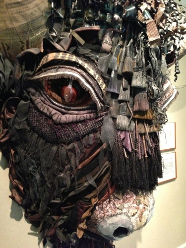 Buffalo assemblage sculpture, detail