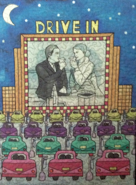 "Date Night at the Drive In (mini reproduction) , 10"" x 13"""