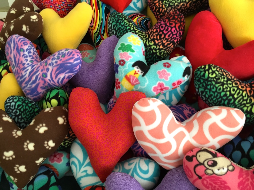 Heart Pillows for Breast Cancer Recovery